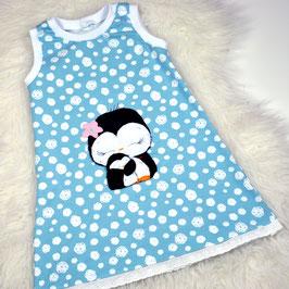 Sommerkleid Mädchenkleid mint Pinguine