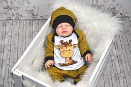Set Babypulli Pumphose Babybeanie Giraffe