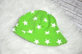 Sommerhut grün, weiße Sterne