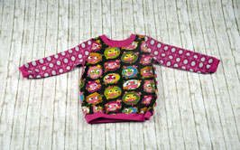 Langarmshirt Pullover Longshirt Eule