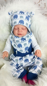 Babyset Pumphose Halstuch Mütze Elefant