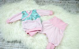 Set Babypullover Pumphose Eulen