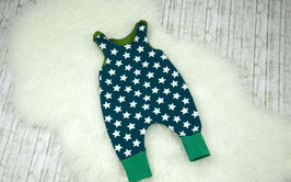 Strampler Babystrampler Sterne petrol