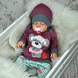 Babyset Pumphose Pullover Babymütze Maus