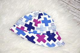 Sommermütze, Kreuze, lila-blau