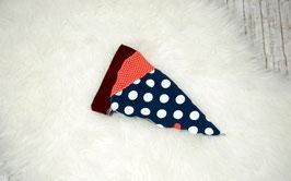 Kopftuch, blau, rot, Punkte