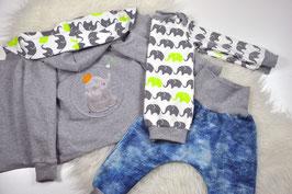 Set Jacke Pumphose Longshirt Elefant