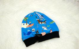 Beanie Bündchenbeanie Mütze blau Piraten KU 50/52