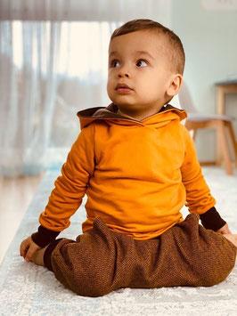 Hoodie Pullover Sweatshirt senfgelb