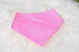 Babyhalstuch rosa weiße Punkte