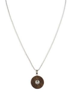 Lignum necklace with Swarovski crystal