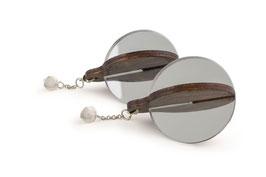 Lignum round earrings