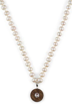 Lignum freshwater pearl necklace