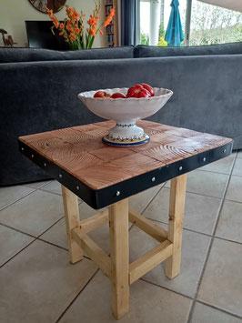 Petite table d'appoint bois et métal