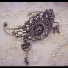Bracelet Manchette Engrenage et nature