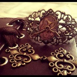 Bracelet Manchette Mécanisme d'Horloge #2