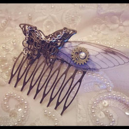 Barrette Peigne Aile de Papillon et Chaine