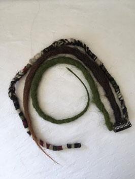 Set de dreads synthétique à clip kaki