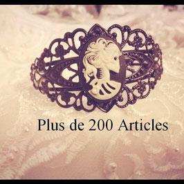 Bracelet Gothique Femme Camé
