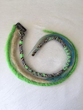 Set de dreads synthétiques à clip vert