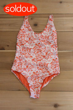 eit swim retro flower one piece / ORG