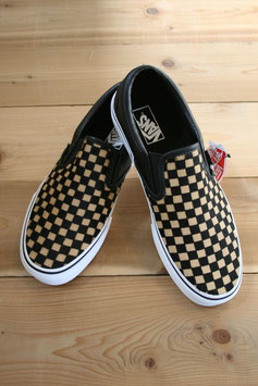 VANS  CLASSIC SLIP-ON  CALF HAIR CHECKERBOARD