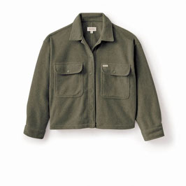 BRIXTON WOMEN BOWERY WOMEN L/S FLEECE - MILITARY OLIVE