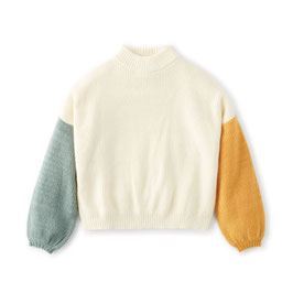 BRIXTON WOMEN BURNING UP SWEATER - OFF WHITE