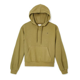 BRIXTON WOMEN  VINTAGE FRENCH TERRY HOOD - WASHED OLIVE
