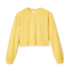 BRIXTON WOMEN VINTAGE CROP CREW - SUNSET YELLOW