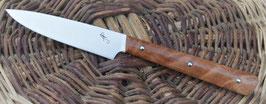 Couteau d'office – fourche de peuplier stabilisée (3 rivets molletonnés - finition arrondie)