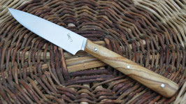 Couteau d'office – olivier (1 rivet molletonné - finition arrondie)
