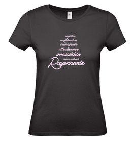 Tee-shirt femme rayonnante