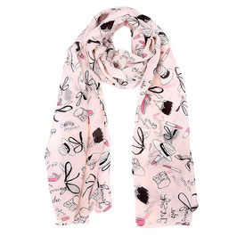 Foulard decor rose