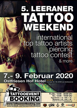Booth Booking- 5. Leeraner Tattoo Weekend 7.-9.Februar 2020