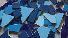 3kg Fliesenbruch frostsicher  Blau Mix