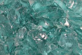 Glasbrocken Glassteine 50-150 mm Glas Steine türkis