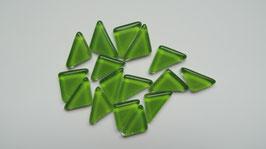 Soft Glas Dreiecke grün