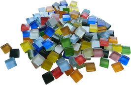 Soft Glas bunt Mix 10x10mm
