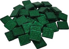 Soft Glas Glitter grün 20x20 mm