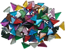 Soft Glas Glitter Dreiecke Mix bunt