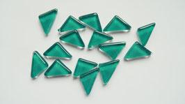 Soft Glas Dreiecke türkis