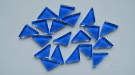 Soft Glas Dreiecke blau