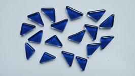Soft Glas Dreiecke dunkelblau