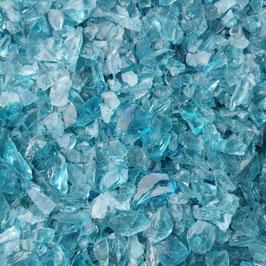 Glasbrocken Glassteine Schotter 10-30 mm Glas Steine hellblau