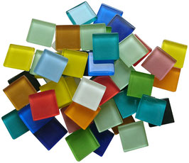 Soft Glas bunt Mix 20x20 mm
