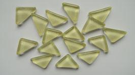 Soft Glas Dreiecke hellgelb