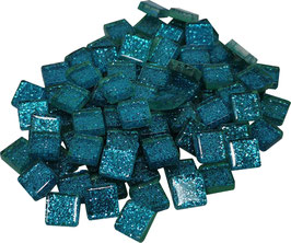 Soft Glas Glitter türkis 10x10