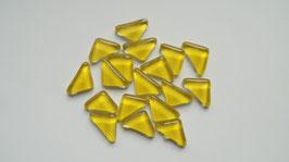 Soft Glas Dreiecke gelb