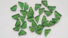 Soft Glas Glitter Dreiecke hellgrün